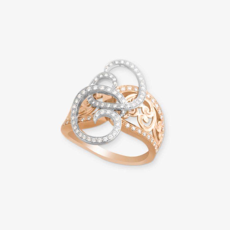 BAGB35-Bague-neo-beldi-en-or-rose-18-carats-et-diamants-Bijouterie-traditionnelle-Maroc-Bijoux-beldi