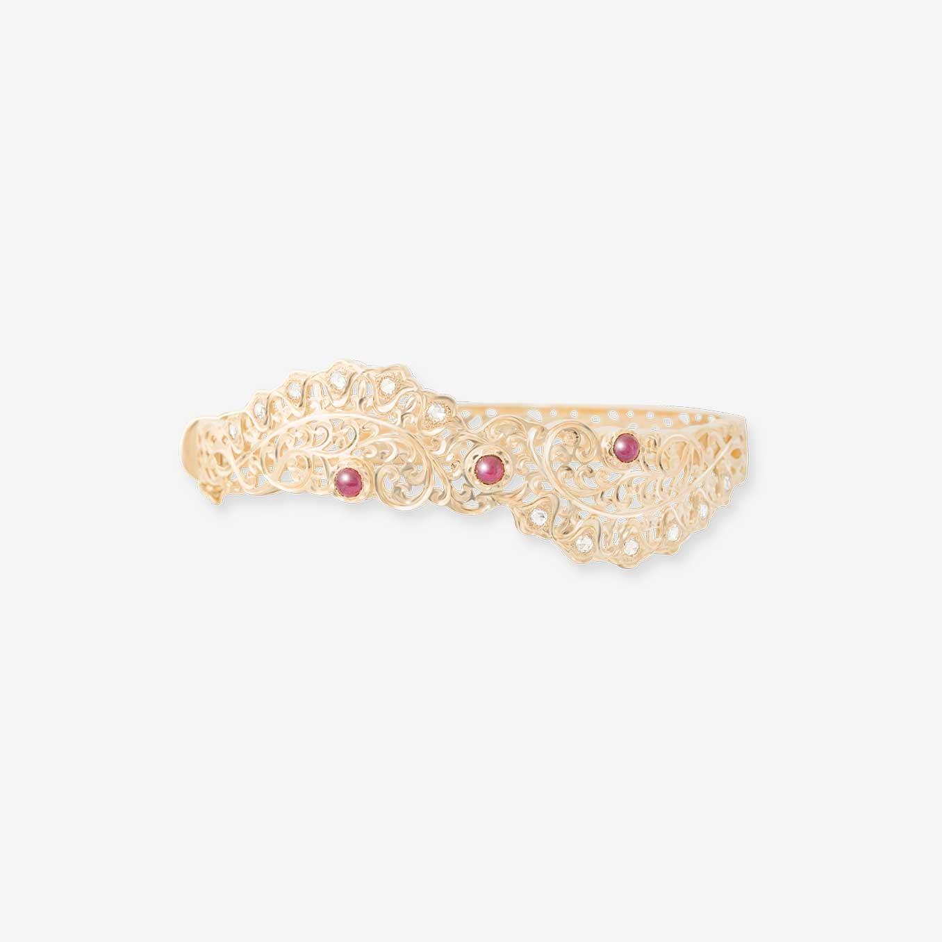 Bracelet-beldi-traditionnel-rubis-Bijouterie-traditionnel-maroc