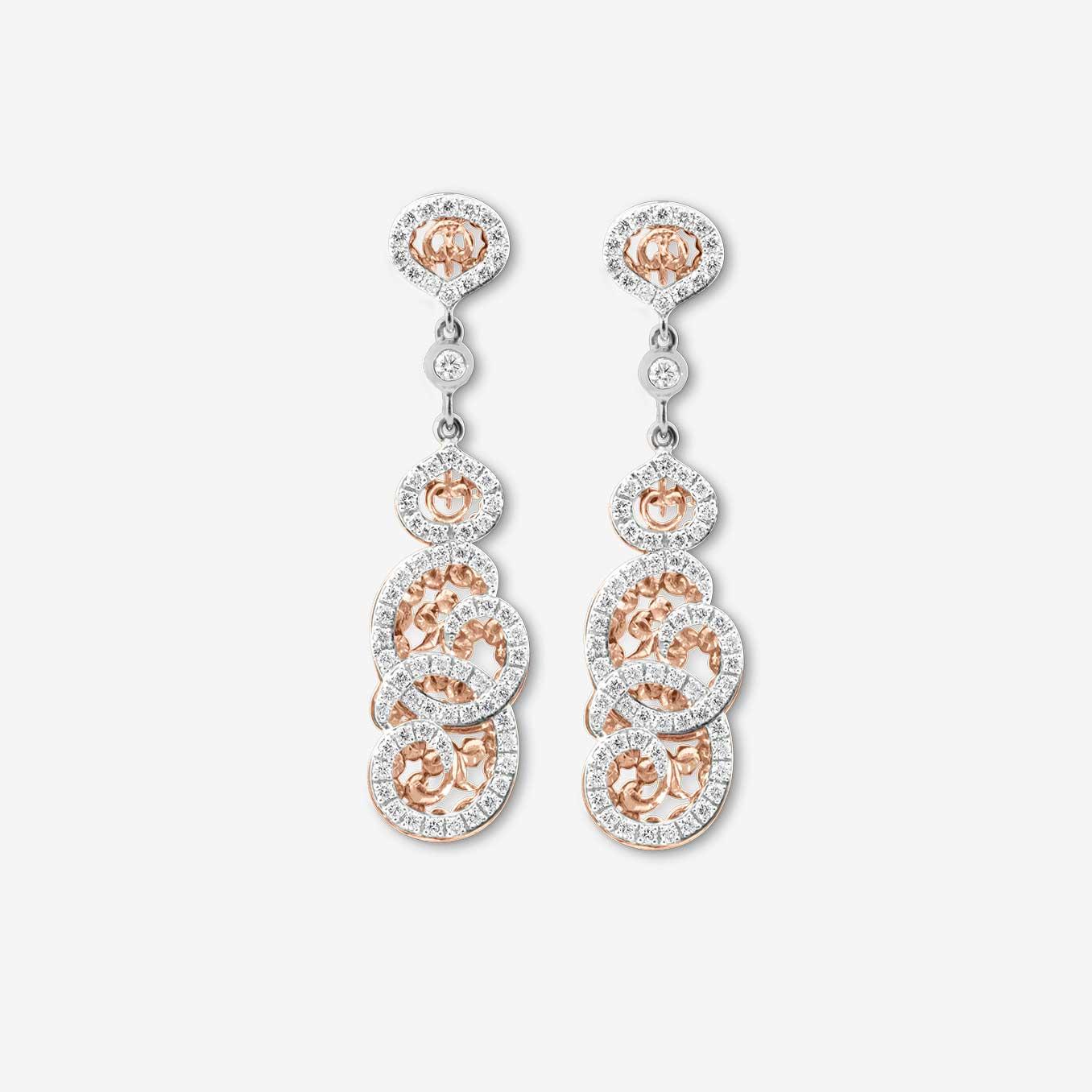 Boucles-doreilles-neo-Beldi-en-or-rose-sertie-de-diamants-Bijouterie-traditionnelle-maroc