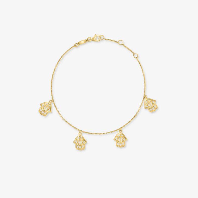 Bracelet-sweet-beldi-khimissa-en-or-jaune-et-diamants-Bijouterie-traditionbnelle-Maroc-Bijoux-beldi