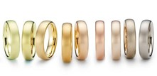 différentes couleurs de l or